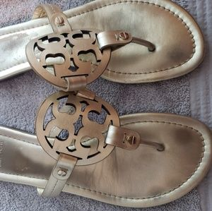 Tory Burch Miller Leather Logo Sandal, Spark